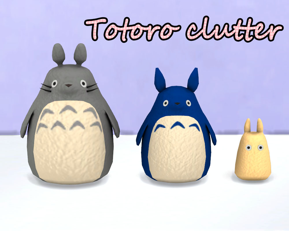 Totoro Mini Living Set by Kimu412