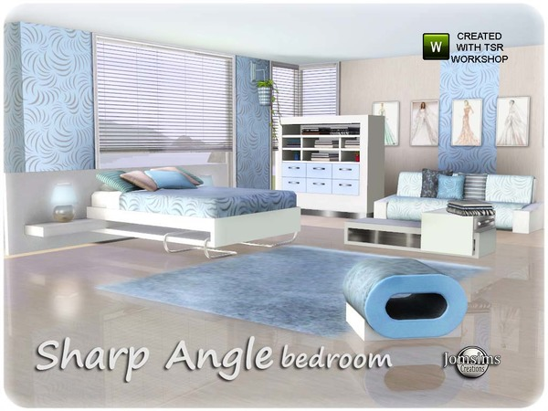 Sharp angle Bedroom by jomsims