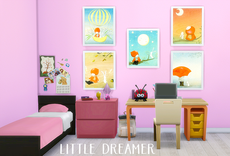 Little Dreamer Paintings by Sayyestoplumbbobs