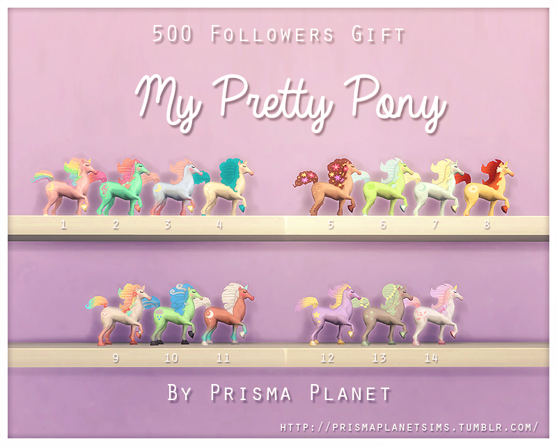 My Pretty Pony Figures by prismaplanetsims