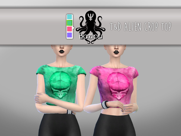T&D alien crop top by Bazlou