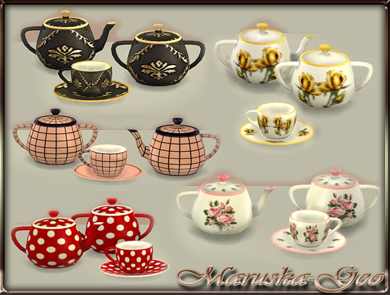 Tea Sets by Maruska-Geo