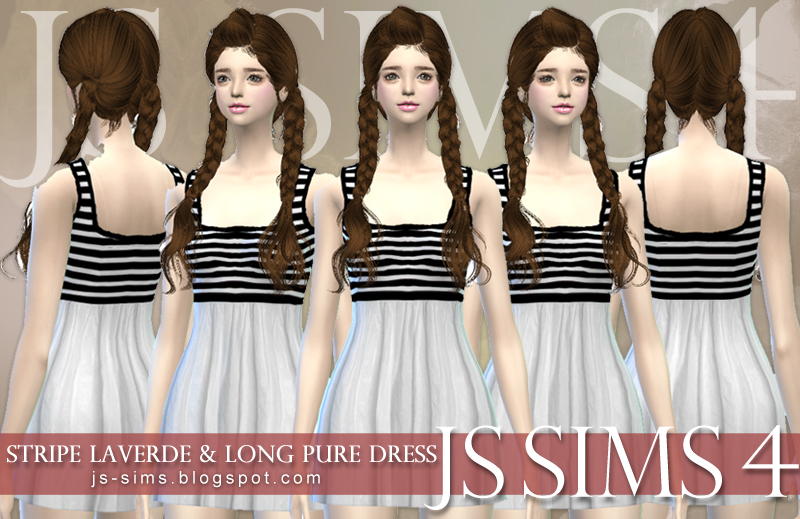 Stripe Laverde Dress by JS Sims 4