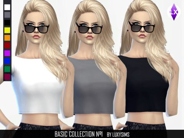 Basic Short Shirt by LuxySims3
