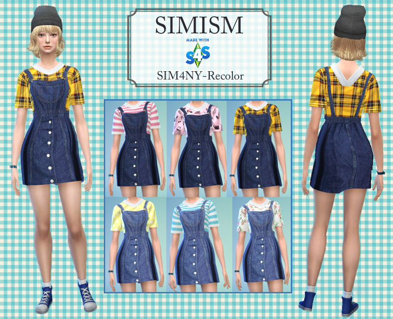 CollaredSmockDress-Recolor by Sim4ny