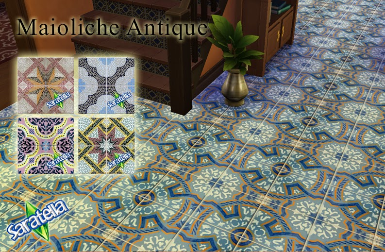Antique Tile Floors by Saratella