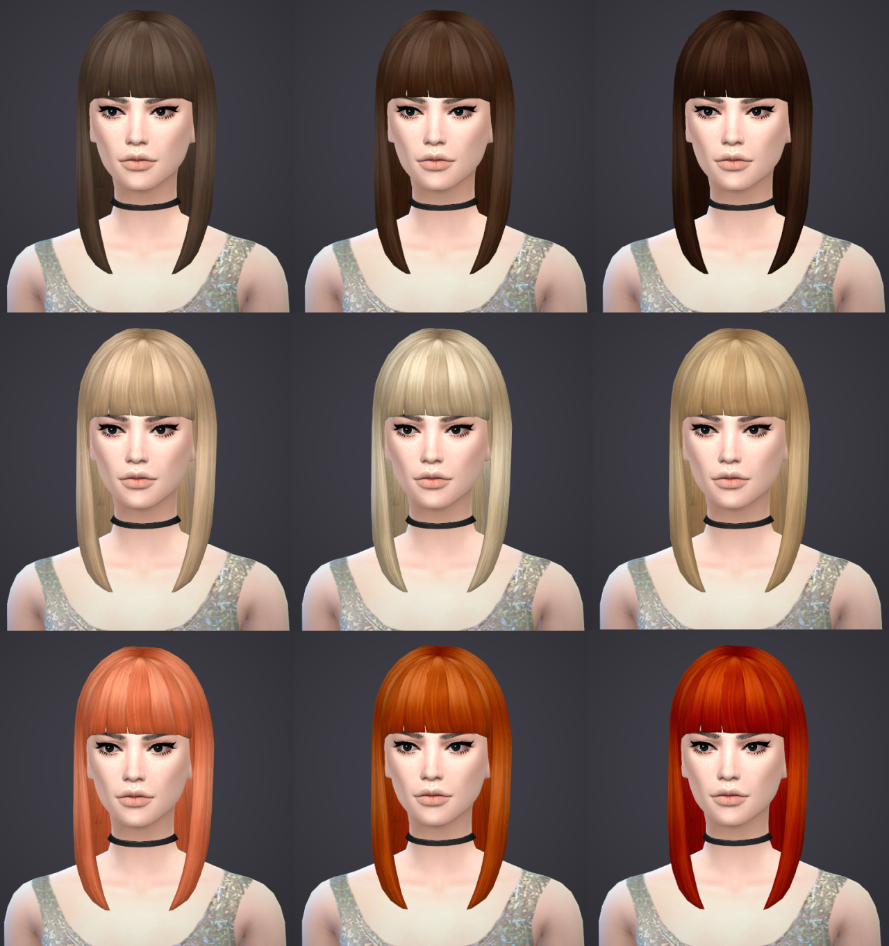 Mid Straight Bangs Hair for Females by Salem2342