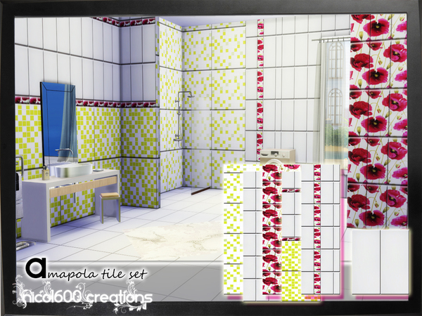 Amapola tile set by nicol600