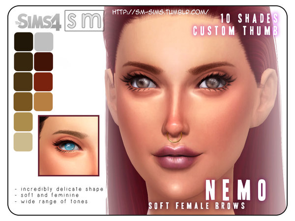 [ Nemo ] - Soft Female Brows by Screaming Mustard