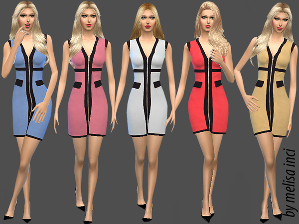 Cotton With Zip Dress by melisa inci