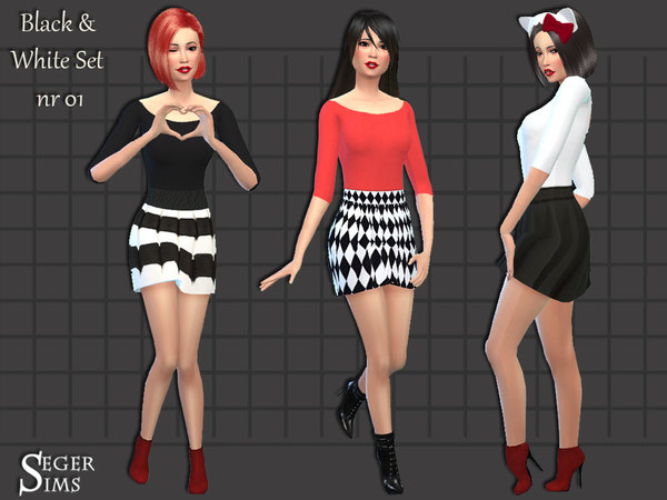 Black & White Set 01 by SegerSims