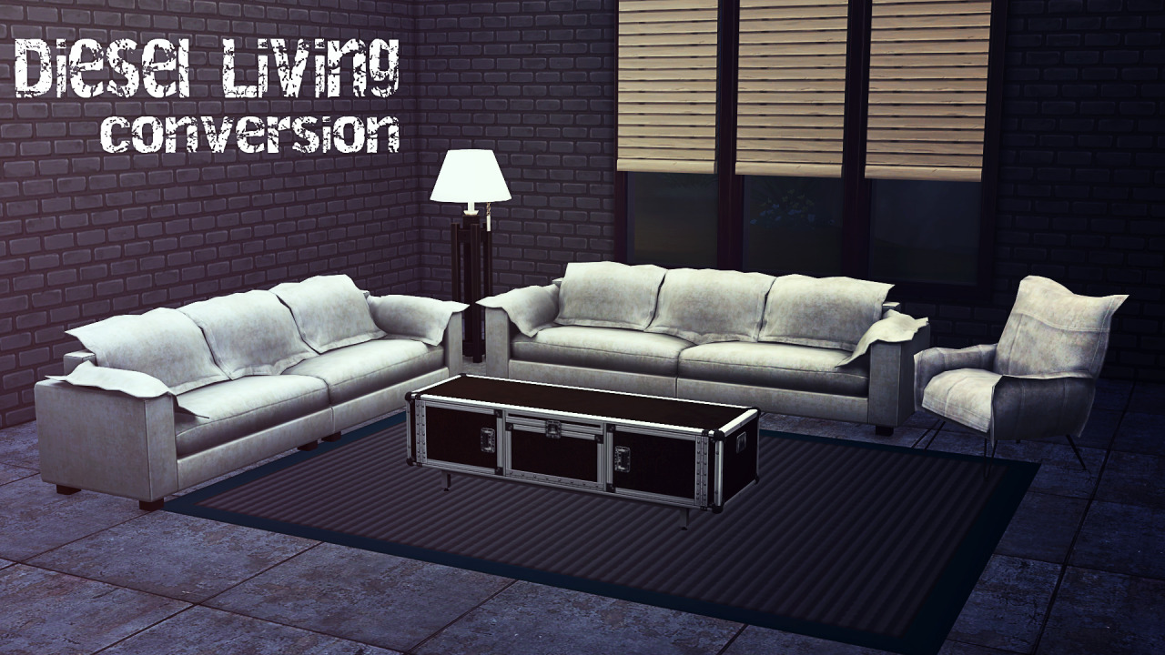 TS3 Diesel Stuff Pack Living Set Conversion by BrialImmortelle