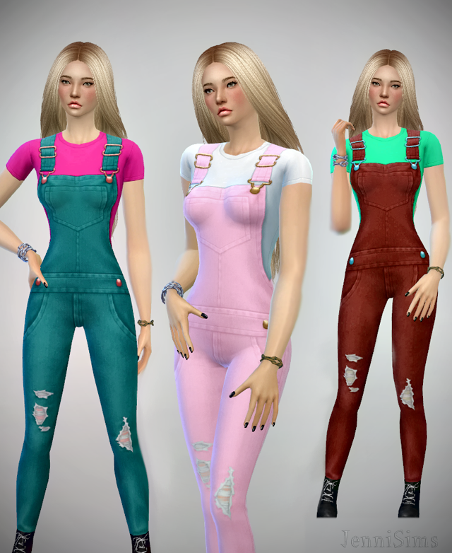 Jeans Overalls for Females by JenniSims