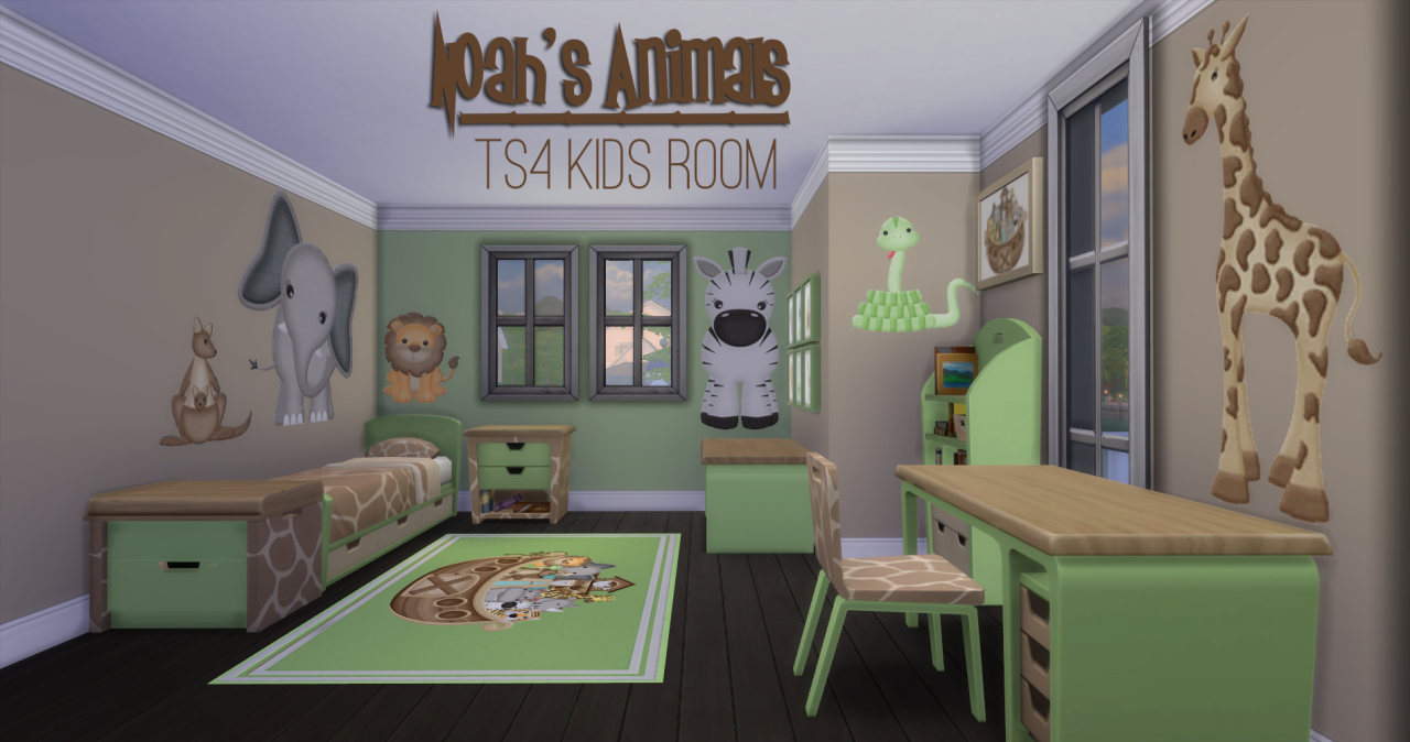 Noah's Animals Bedroom by JorghaHaq