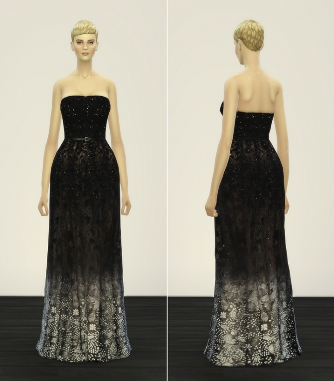 Rusty Nail  Clothing, Female : Haute Couture Sims 4 dress