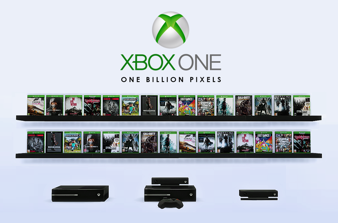 Xbox One Games & Consoles (Decor Clutter) by NewOne