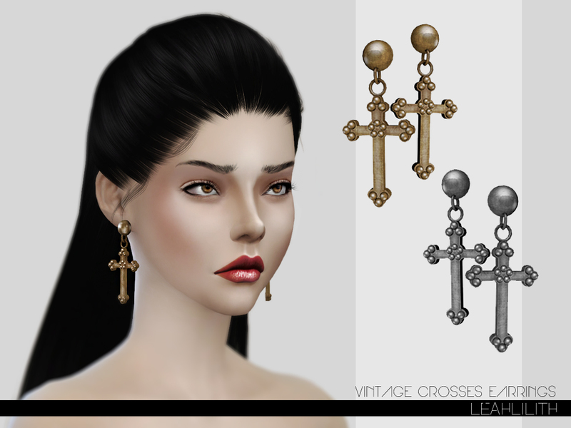 LeahLillith Vintage Crosses Earrings BY Leah Lillith