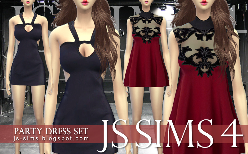 Party Dress Set by JS Sims 4