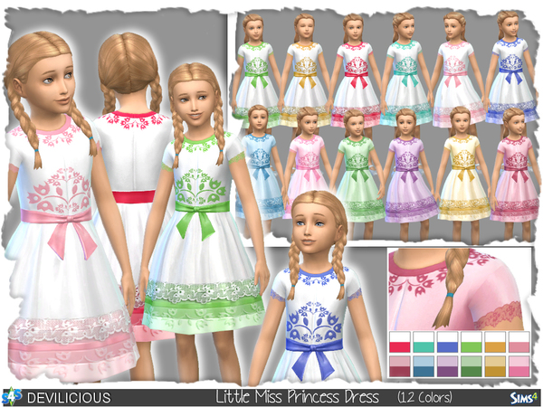 Little Miss Princess Dress (12 Colors) by Devilicious