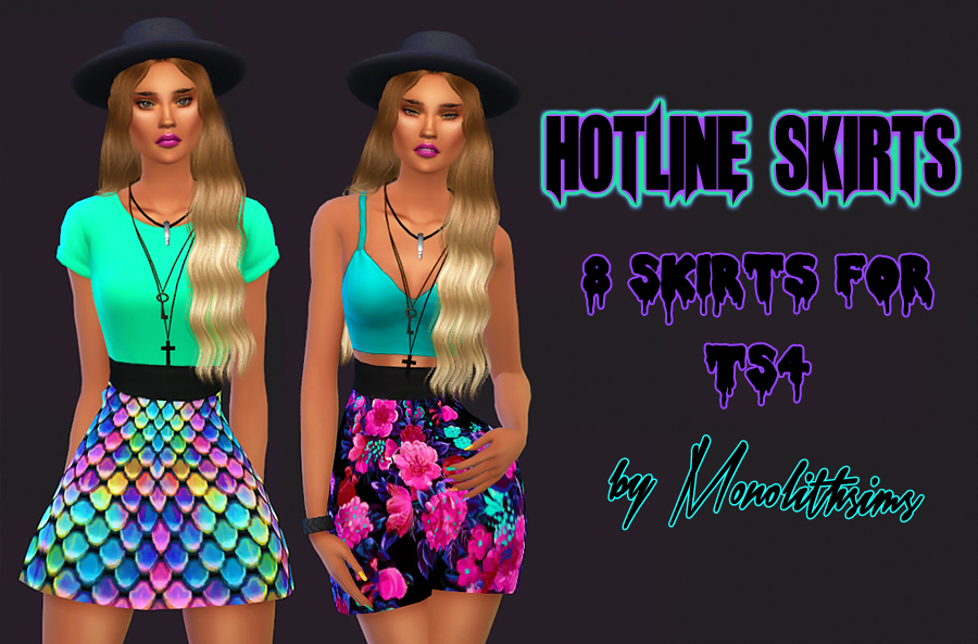 Hotline Skirts for TS4 by Monolithsims