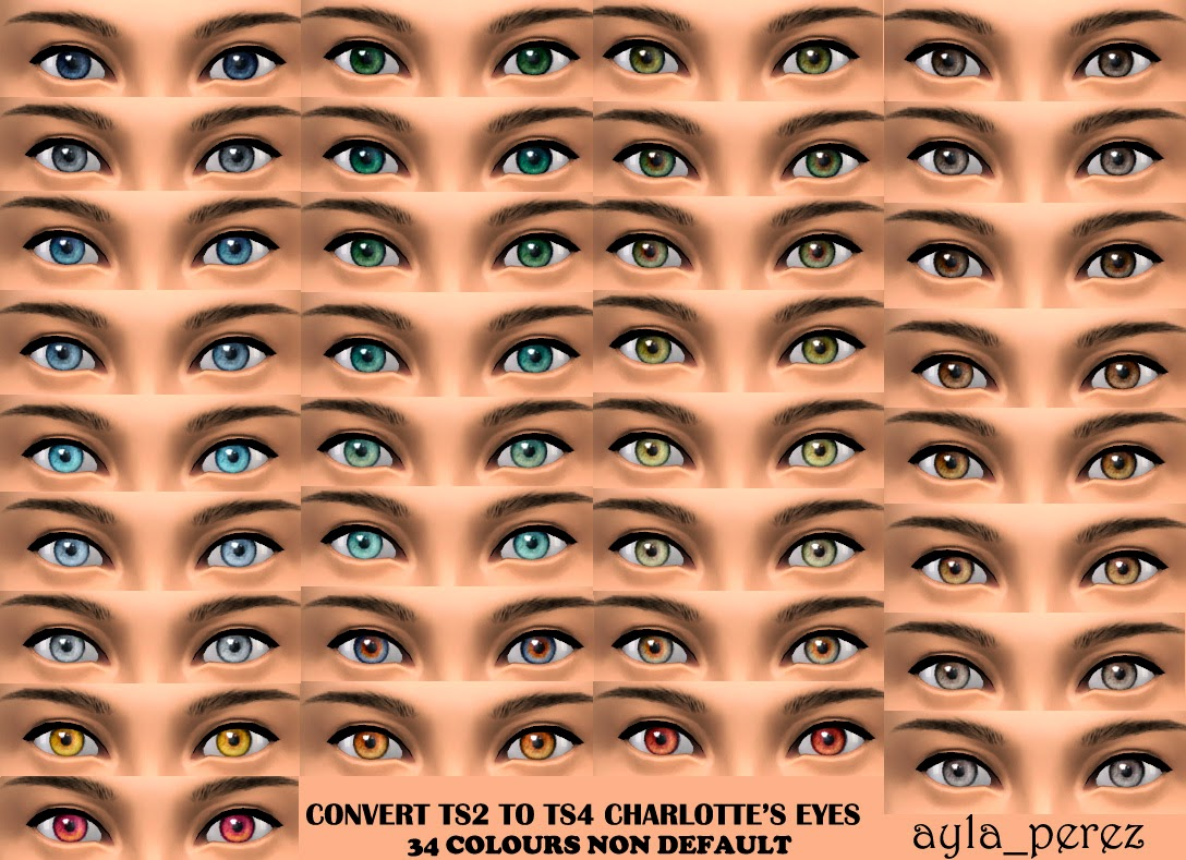 TS2 to TS4 Charlotte's Non Default Eyes by Ayla