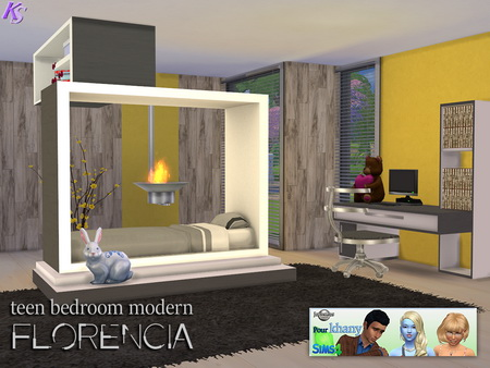 Khany Sims  Furniture, Bedroom : Florencia modern teenroom by Jomsims