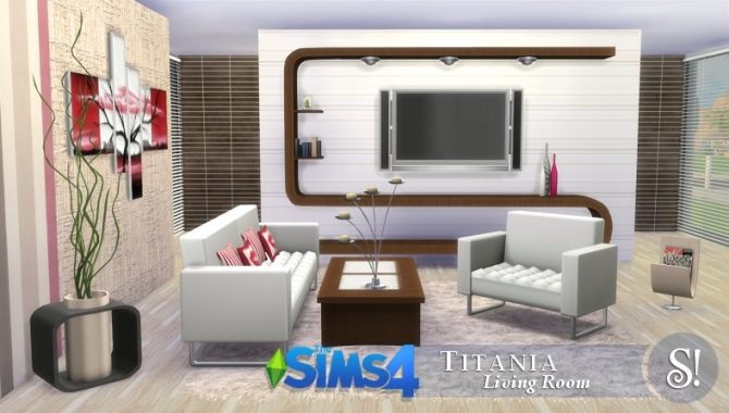 SIMcredible! Designs 4  Furniture, Living room : Titania livingroom