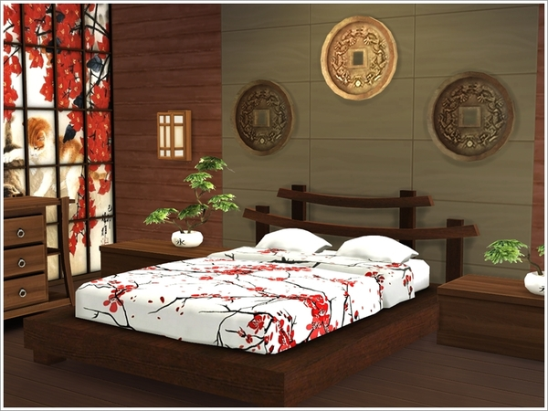 Asian bedroom by Severinka