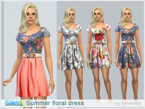 Summer floral dress by Severinka