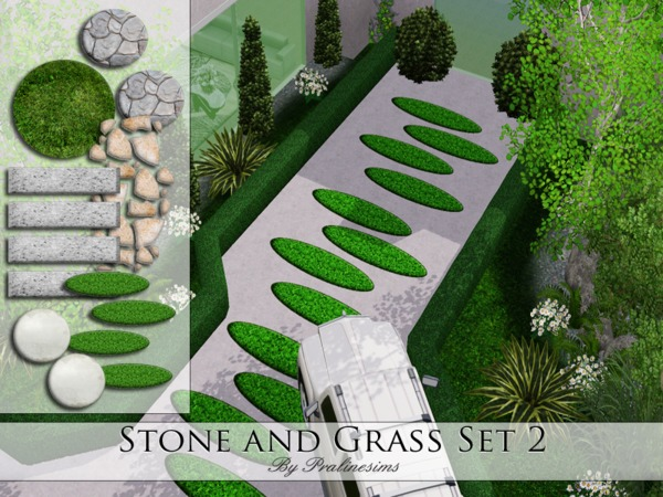 Stone and Grass Set 2 by Pralinesims