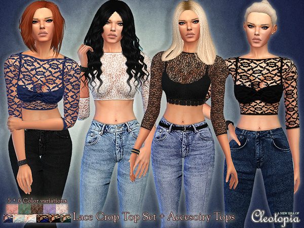 Set32- Lace Top Set by Cleotopia