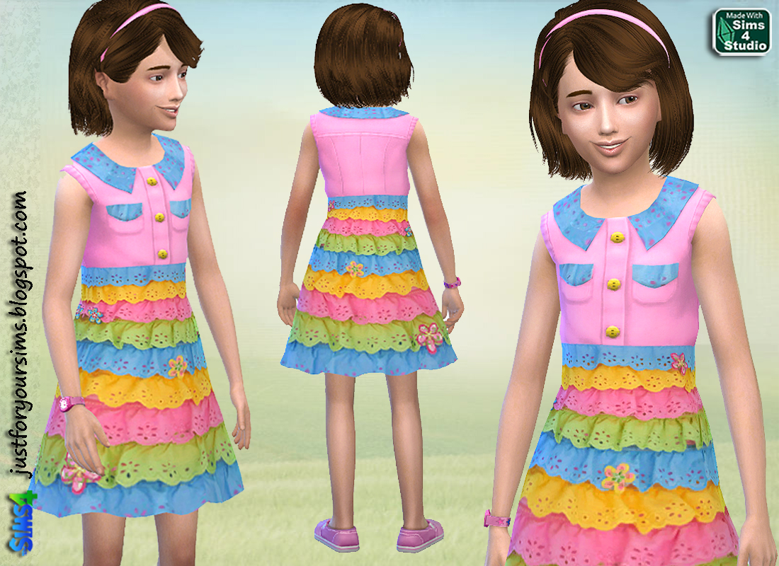 Sweet Pink Dress at Sims and Just Stuff