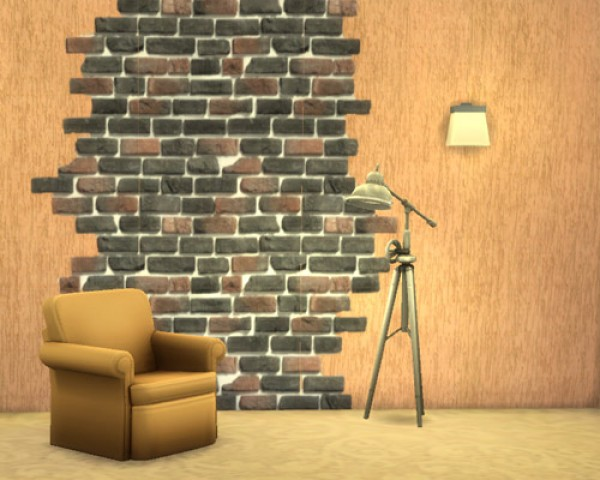 Ivory Brick seamless wall at Sims by Mulena