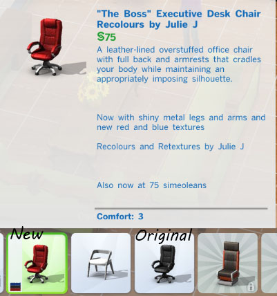 Julietoon  Julie J  Furniture, Single items : Executive Office Chairs Recolours