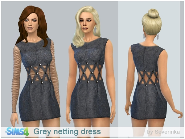 Grey netting dress by Severinka