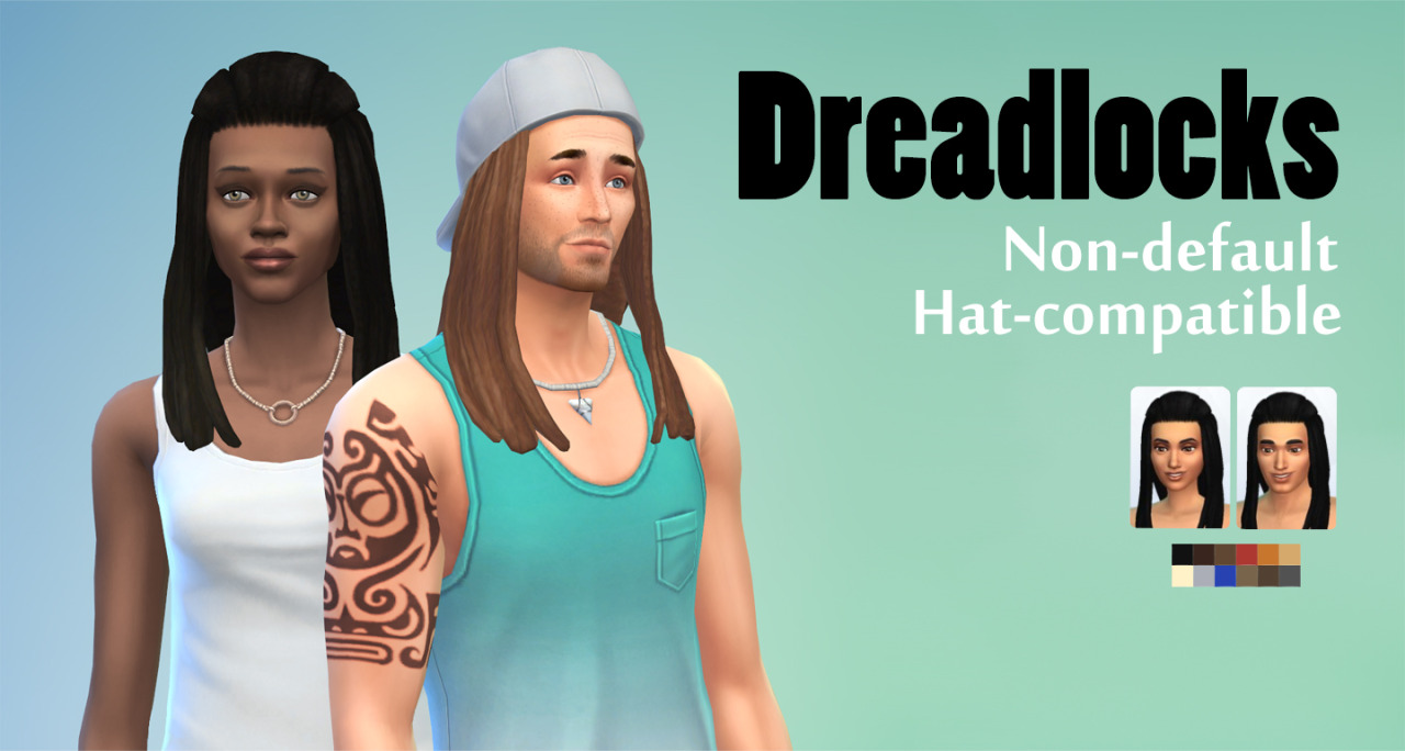Dreadlocks Hair for Males & Females by JoolsSimming