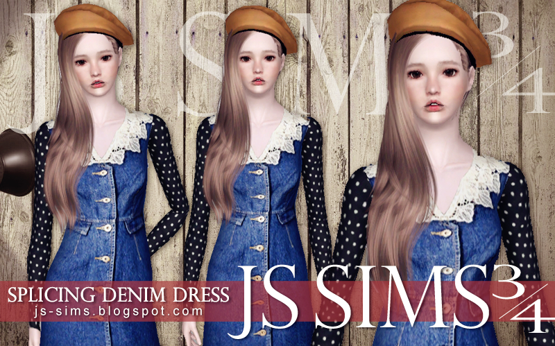 Splicing Denim Dress by JS Sims