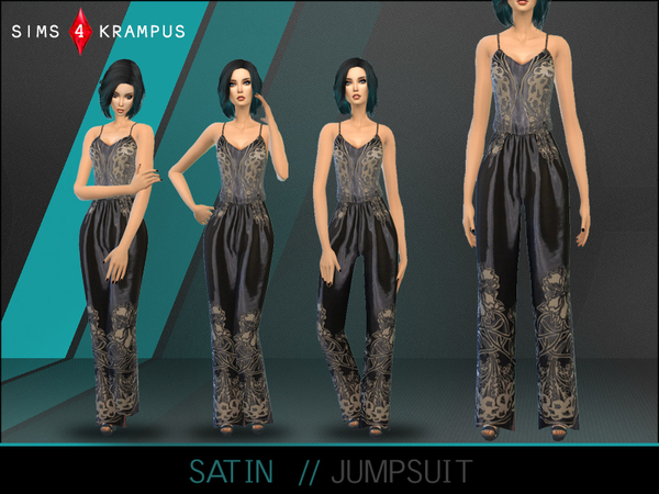 Satin Jumpsuit by SIms4Krampus