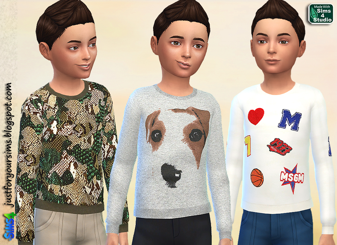 MSGM Sweatshirts by Wimmie at Just For Your Sims