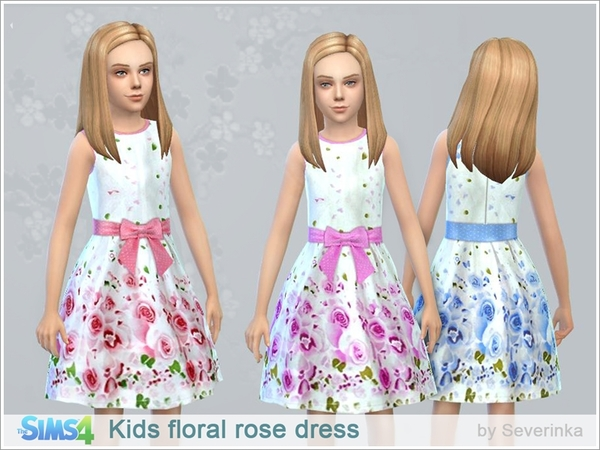 Kids floral rose dress by Severinka