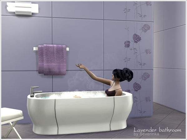 Lavender bathroom by Severinka