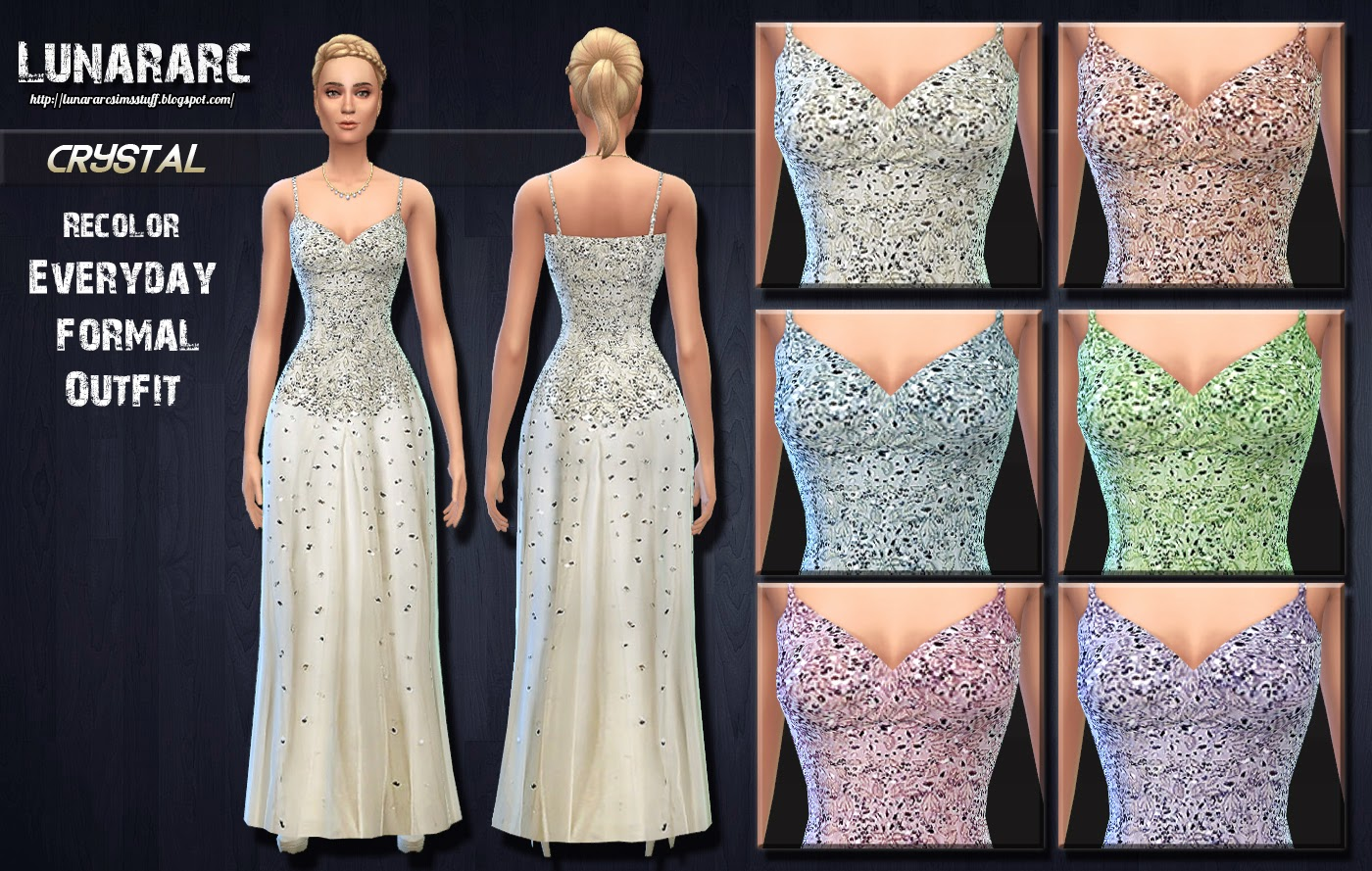 Crystal Beaded Wedding Dress By Lunararc at Lunararc