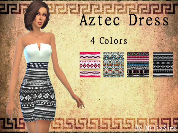 Aztec Dress by MiliaSims
