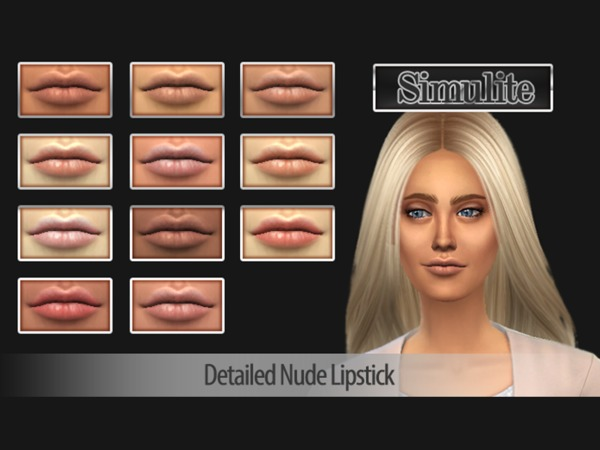 Simulite Detailed Nude Lipstick by SimuliteSim