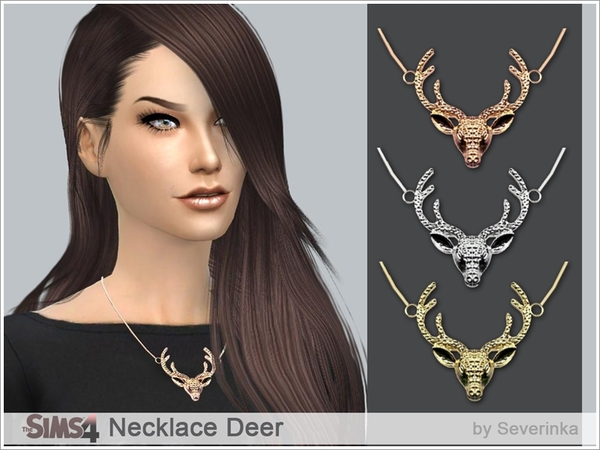 Necklace Deer by Severinka