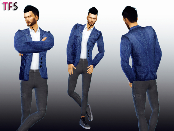 Denim Blazer by TwistedFate Sims
