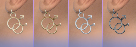 Mars Symbol Earrings by Soloriya