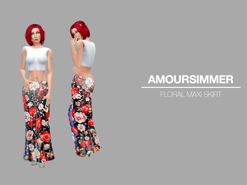 Floral Maxi Skirt BY amoursimmer