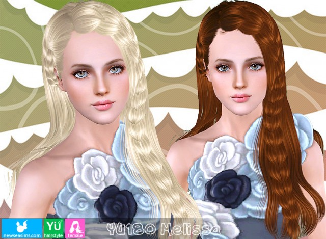 SIMS3-hair-YU180-f by NewSea