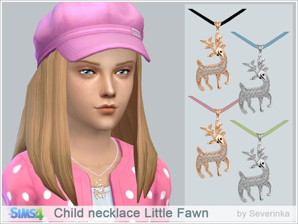 Child necklace Little Fawn by Severinka